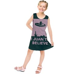 I Juan To Believe Ugly Holiday Christmas Green Background Kids  Tunic Dress