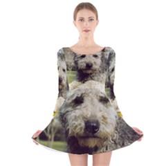 Pumi Long Sleeve Velvet Skater Dress