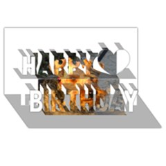 Welch Terrier Happy Birthday 3D Greeting Card (8x4)