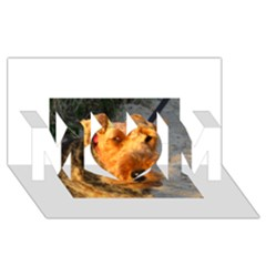 Welch Terrier MOM 3D Greeting Card (8x4)