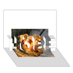 Welch Terrier HOPE 3D Greeting Card (7x5)