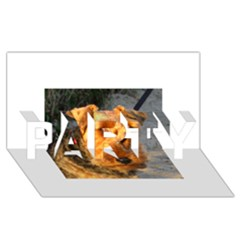 Welch Terrier PARTY 3D Greeting Card (8x4)