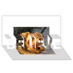 Welch Terrier BELIEVE 3D Greeting Card (8x4)