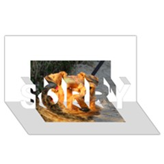 Welch Terrier SORRY 3D Greeting Card (8x4)