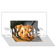 Welch Terrier ENGAGED 3D Greeting Card (8x4)