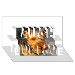 Welch Terrier Laugh Live Love 3D Greeting Card (8x4)