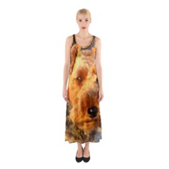 Welch Terrier Sleeveless Maxi Dress