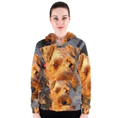 Welch Terrier Women s Zipper Hoodie