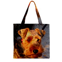Welch Terrier Zipper Grocery Tote Bag