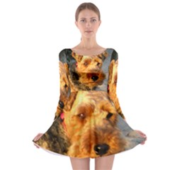Welch Terrier Long Sleeve Skater Dress