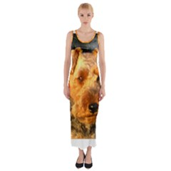 Welch Terrier Fitted Maxi Dress