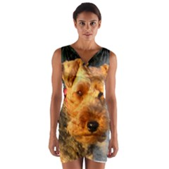 Welch Terrier Wrap Front Bodycon Dress