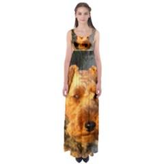 Welch Terrier Empire Waist Maxi Dress