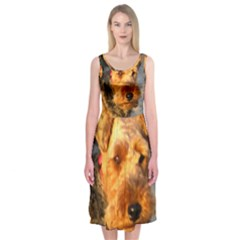Welch Terrier Midi Sleeveless Dress