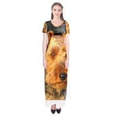 Welch Terrier Short Sleeve Maxi Dress