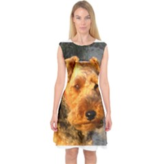Welch Terrier Capsleeve Midi Dress
