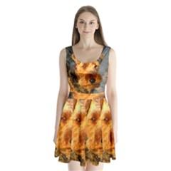 Welch Terrier Split Back Mini Dress