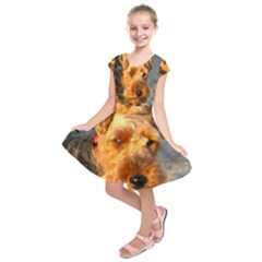 Welch Terrier Kids  Short Sleeve Dress