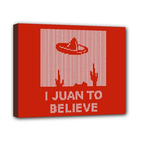 I Juan To Believe Ugly Holiday Christmas Red Background Canvas 10  x 8