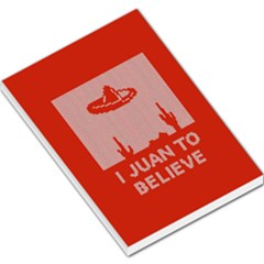 I Juan To Believe Ugly Holiday Christmas Red Background Large Memo Pads