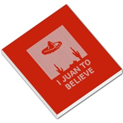 I Juan To Believe Ugly Holiday Christmas Red Background Small Memo Pads