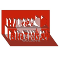 I Juan To Believe Ugly Holiday Christmas Red Background Happy Birthday 3D Greeting Card (8x4)