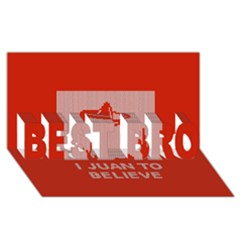 I Juan To Believe Ugly Holiday Christmas Red Background BEST BRO 3D Greeting Card (8x4)