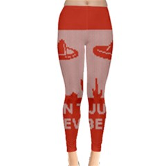 I Juan To Believe Ugly Holiday Christmas Red Background Leggings