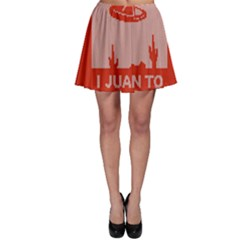 I Juan To Believe Ugly Holiday Christmas Red Background Skater Skirt