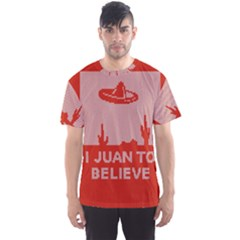 I Juan To Believe Ugly Holiday Christmas Red Background Men s Sport Mesh Tee