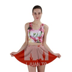 I Juan To Believe Ugly Holiday Christmas Red Background Mini Skirt