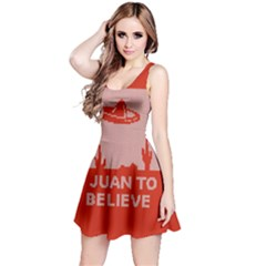 I Juan To Believe Ugly Holiday Christmas Red Background Reversible Sleeveless Dress