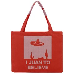 I Juan To Believe Ugly Holiday Christmas Red Background Mini Tote Bag