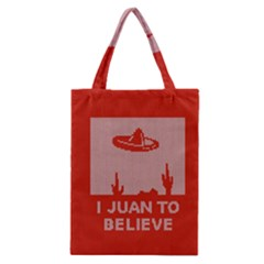 I Juan To Believe Ugly Holiday Christmas Red Background Classic Tote Bag