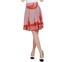 I Juan To Believe Ugly Holiday Christmas Red Background A-Line Skirt