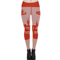 I Juan To Believe Ugly Holiday Christmas Red Background Capri Leggings