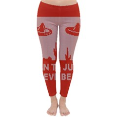 I Juan To Believe Ugly Holiday Christmas Red Background Classic Winter Leggings