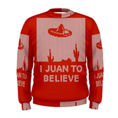 I Juan To Believe Ugly Holiday Christmas Red Background Men s Sweatshirt