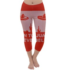 I Juan To Believe Ugly Holiday Christmas Red Background Capri Winter Leggings