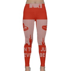 I Juan To Believe Ugly Holiday Christmas Red Background Classic Yoga Leggings