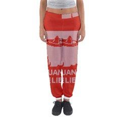 I Juan To Believe Ugly Holiday Christmas Red Background Women s Jogger Sweatpants