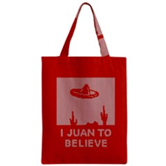 I Juan To Believe Ugly Holiday Christmas Red Background Zipper Classic Tote Bag