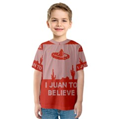 I Juan To Believe Ugly Holiday Christmas Red Background Kids  Sport Mesh Tee