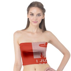 I Juan To Believe Ugly Holiday Christmas Red Background Tube Top