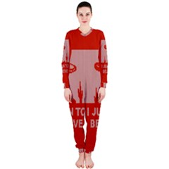 I Juan To Believe Ugly Holiday Christmas Red Background OnePiece Jumpsuit (Ladies)