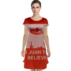 I Juan To Believe Ugly Holiday Christmas Red Background Cap Sleeve Nightdress