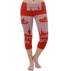 I Juan To Believe Ugly Holiday Christmas Red Background Capri Yoga Leggings