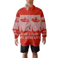 I Juan To Believe Ugly Holiday Christmas Red Background Wind Breaker (Kids)