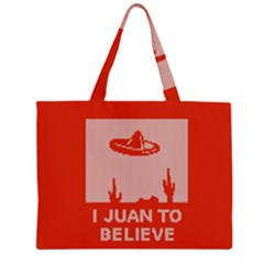 I Juan To Believe Ugly Holiday Christmas Red Background Large Tote Bag