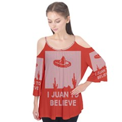 I Juan To Believe Ugly Holiday Christmas Red Background Flutter Tees